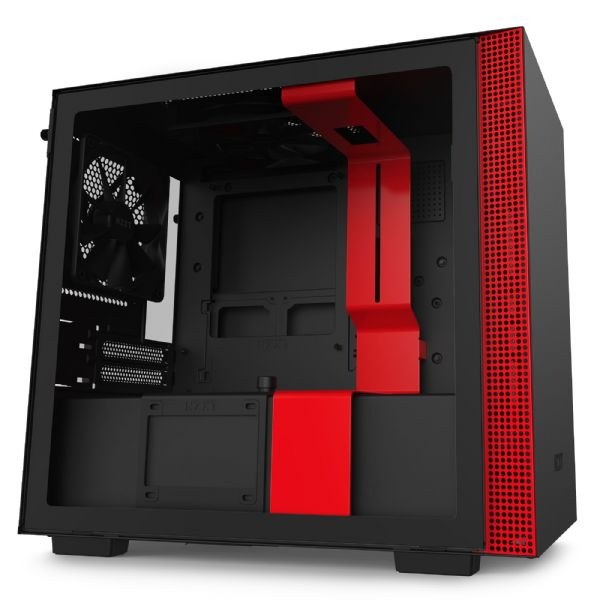 NZXT H210i Matte Black / Red Mini-ITX Tower Case